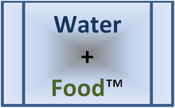 Picture of Water + Food (tm) logo